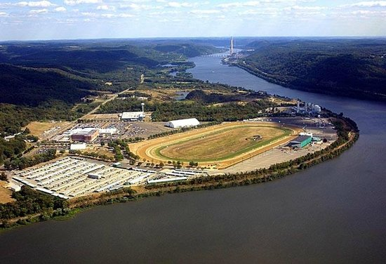 Chester, WV: Aerial View of Mountaineer Casino, Racetrack & Resort