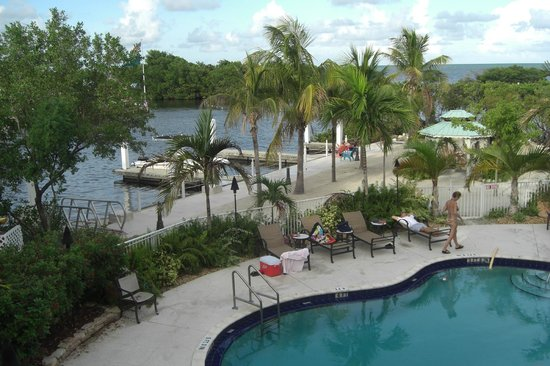 MB at Key Largo:                   Lodge pool area.