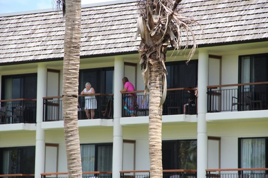 Sofitel Fiji Resort & Spa:                                     Talking to the Neighbours on 3rd Floor