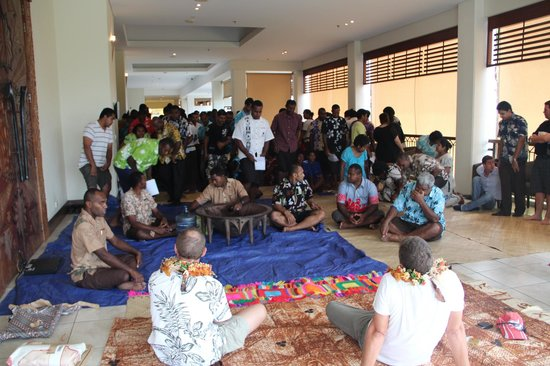 Sofitel Fiji Resort & Spa:                                     Staff Farewell to GM