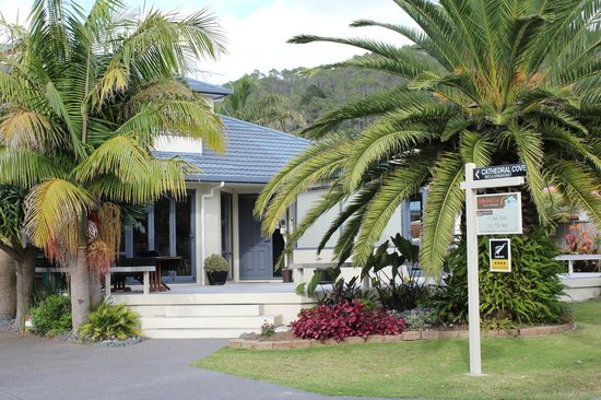 Cathedral Cove Bed and Breakfast :                   Street side view of B & B