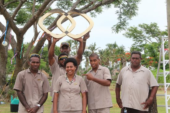 Sofitel Fiji Resort & Spa:                                     Staff Preparing for Special Function