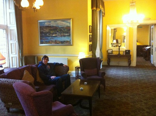 Stonefield Castle Hotel:                   Log fire just out of shot!