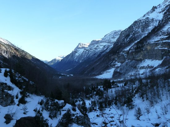 Bielsa, Spain:                   Looking down the valley