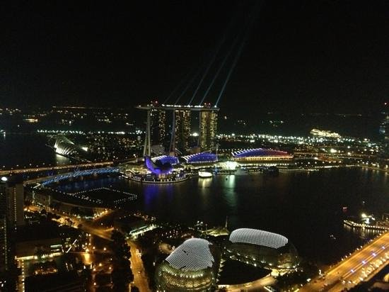 Swissotel The Stamford Singapore:                   view from 65th floor