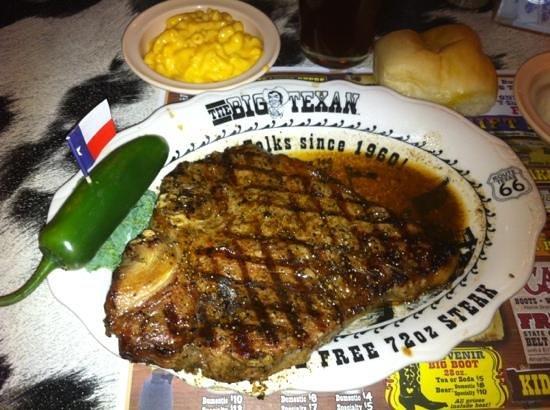 Big Texan Motel: T steack