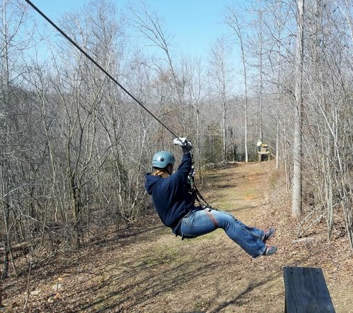 Richland Creek Canopy Tours :                   first run