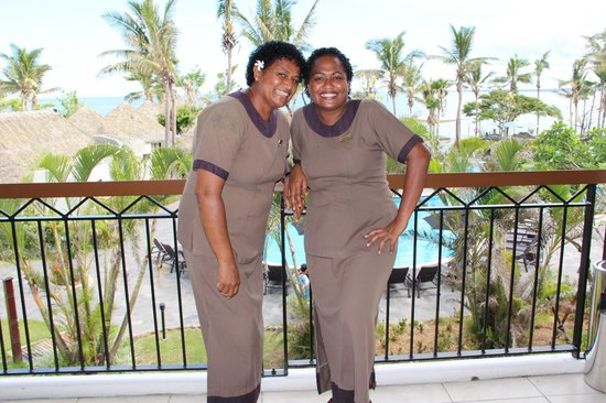 Sofitel Fiji Resort & Spa:                   Housekeeping Team in Main Foyer