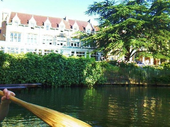 St. Hilda's College:                                     View from a punt on the river