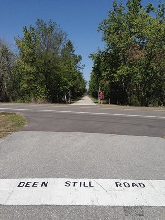 Polk City, FL:                   One of three paved road crossings along the 29.3 mile trail
