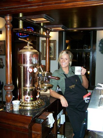Cowboy & Co. Coffee Cafe:                   Your hostess at work.