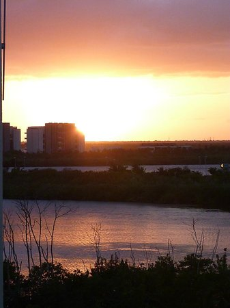 The Westin Resort & Spa Cancun:                   Sunset Out our Door