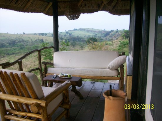 Kyambura Gorge Lodge: porch