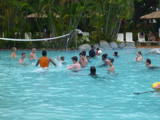 Outrigger Fiji Beach Resort:                                     Volley ball in pool