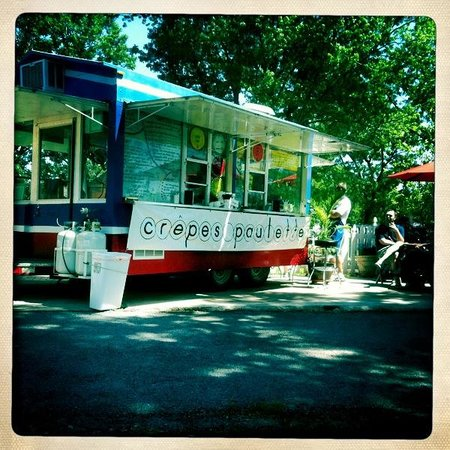 Crepes Paulette:                   What a beautiful food truck!