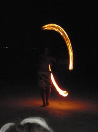 Hilton Fiji Beach Resort & Spa:                   Fire dancing show on resort grounds
