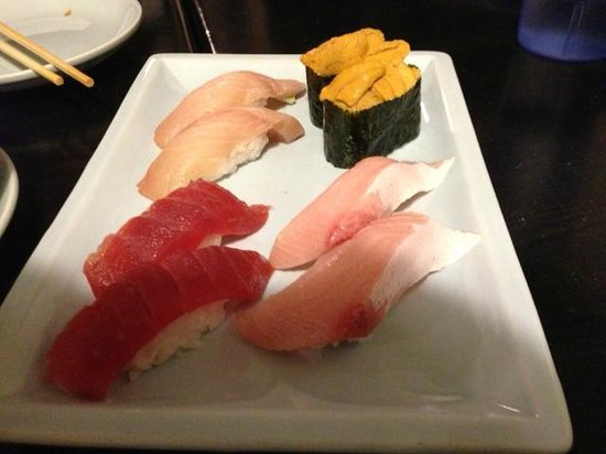 Sushi Karen Japanese Restaurant: Assorted treats (and sea urchin..)