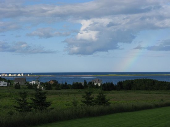 Blue Crest Cottages:                   View of North Rustico Harbour from cottage deck