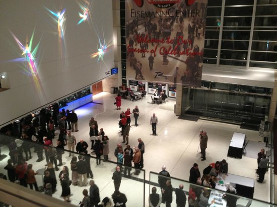 Eisemann Center for the Performing Arts:                                     Main lobby looking down from Art Gallery