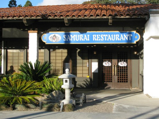Front Entrance to Samurai Restaurant, Solana Beach CA