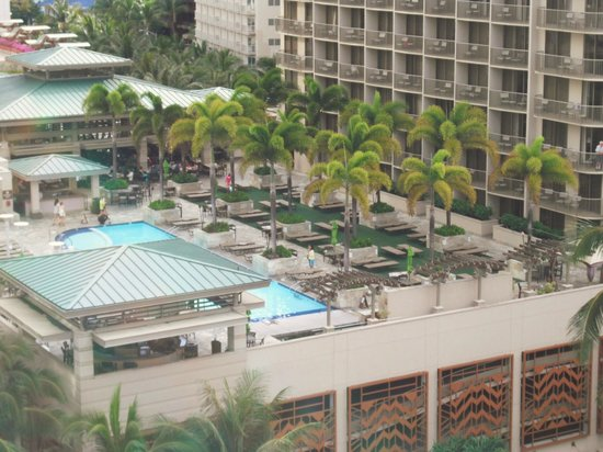 Outrigger Reef Waikiki Beach Resort:                                     Rooftop pool @ Embassy Suites across from hotel
