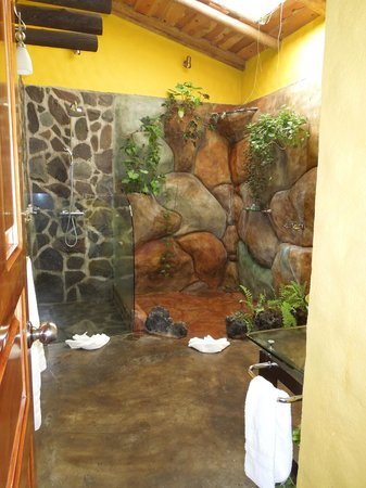 Hotel Mountain Paradise:                                     Two showers - rainfall & waterfall!