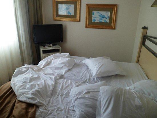 Suites Del Bosque Hotel: 2 camas  unidas y no una king size