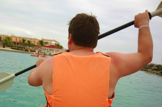 Heaven at the Hard Rock Hotel Riviera Maya:                                     Kayaking in the south lagoon.