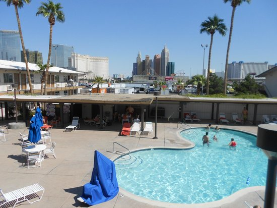 Days Inn Las Vegas At Wild Wild West Gambling Hall:                                     View Toward Strip from Motel