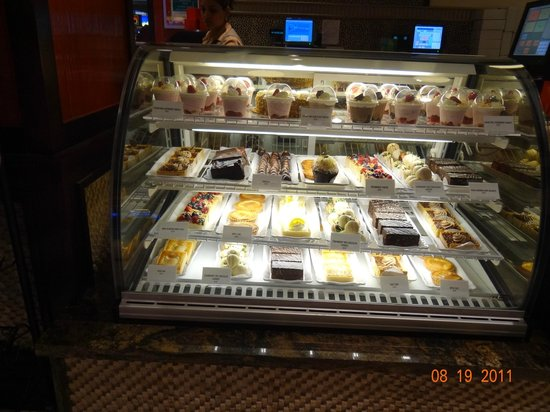 Thunder Cafe:                   Pastries Displayed in Glass Case