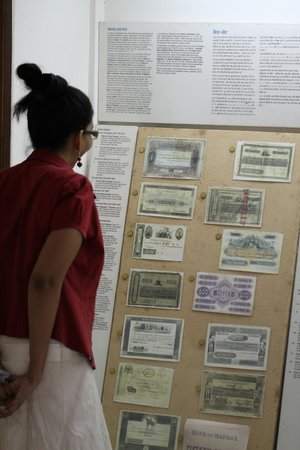Coin Museum: Notes on display