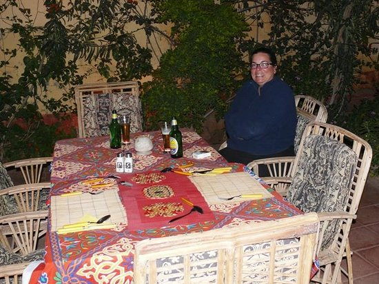 La Maison de Pythagore: Dining outside