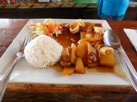 Wahine Cafe Mongolian BBQ:                   Squid!