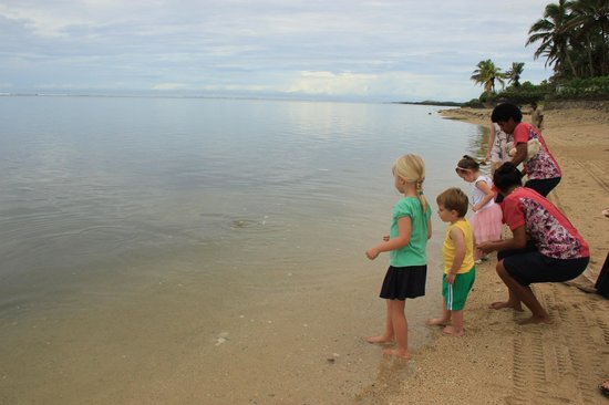 Outrigger Fiji Beach Resort:                                     Fish Feeding for the Under Fives.