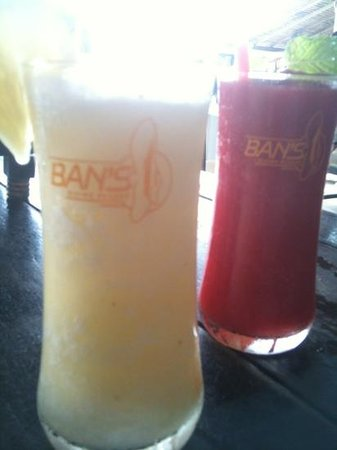Ban's Diving Resort: shakes at bans restaurant