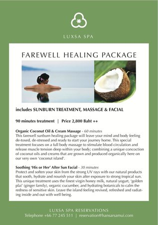 Luxsa Spa: Farewell Healing Package