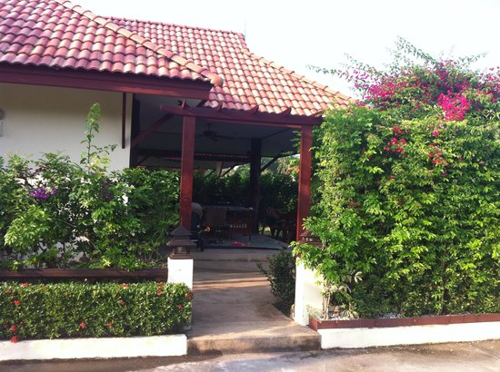"Baan Sawan Resort:                                     The entrance to ""our"" house. Nr 6."