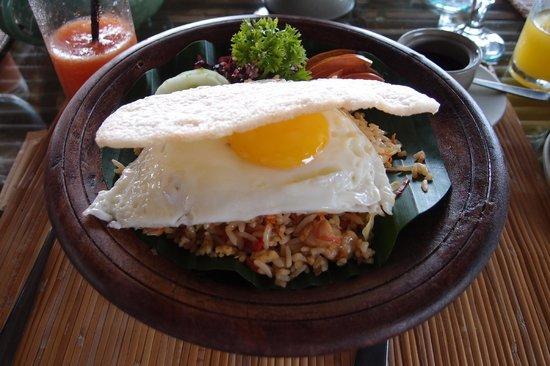 Wapa di Ume Resort and Spa: Nasi goreng for breakfast