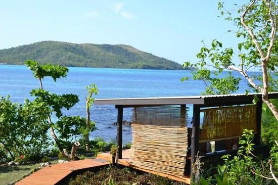 Nanuya Island Resort : The massage hut, what a location...