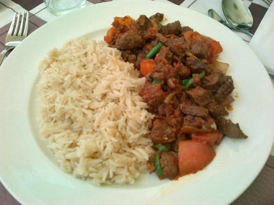 Empire Addis International Hotel : Beef stew for lunch