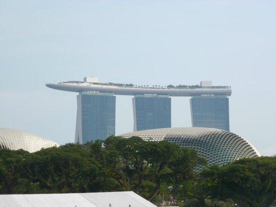 Marina Bay Sands: Sicht aufs Hotel
