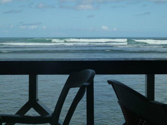 Coral Reef Restaurant:                   Vue de la terrasse du Coral Reef