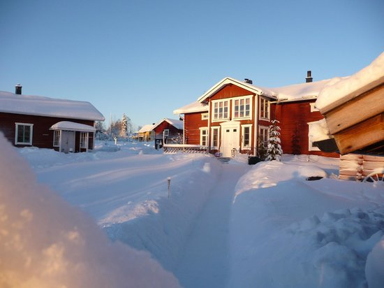 Lapland Guesthouse:                   The guesthouse from the sauna