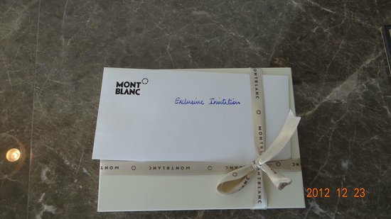 Jumeirah at Etihad Towers:                   Would have been great if the Mont Blanc complimentary gift was a pen