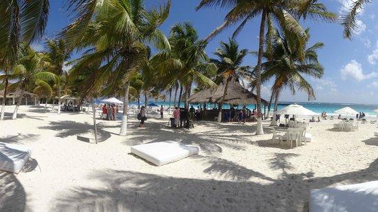 El Paraiso Tulum:                                     Vue du restaurant de la plage