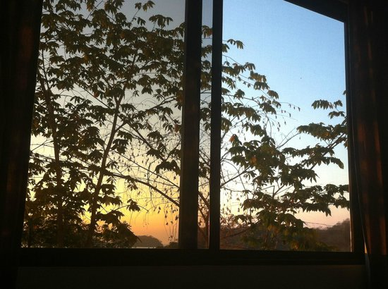 Lodge Las Ranas:                                                                         View from bed, morning s