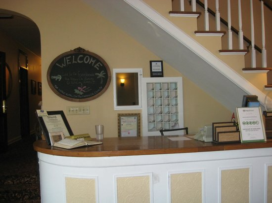 The Inn on Third:                                     neat, well organized front desk and strairway