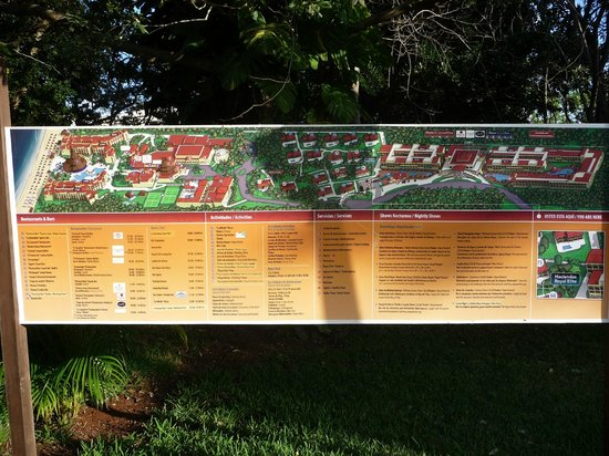 Sandos Playacar Beach Resort:                   Resort map
