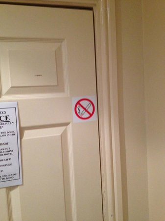 The Beaches Hotel:                   No smoking - apparently!