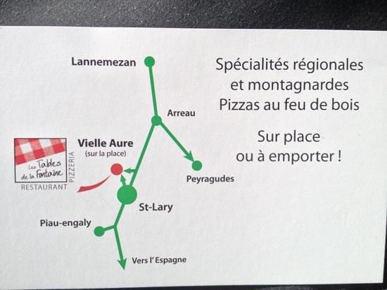 LES TABLES DE LA FONTAINE :                                     plan